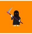 a scytheman character for halloween vector image vector image