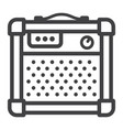 amplifier line icon music and instrument vector image