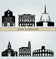 arles landmarks vector image vector image