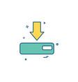 arrow down device icon vector image