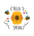 beautiful and cute spring emblem vector image vector image