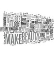 beauty make up text word cloud concept vector image vector image