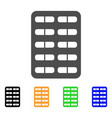 blister flat icon vector image