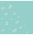 butterfly blue background vector image vector image