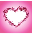 card Hearts and frame vector image vector image