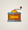 Coffee Mill Flat Icon vector image