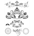 Collection of patterns and round frames vector image vector image