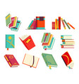 collection various books stack books vector image vector image