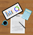 consider taxes concept vector image vector image