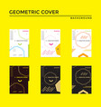creative cover design in geometric style minimal vector image vector image