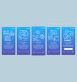 cross platform programming onboarding mobile app vector image vector image