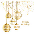 decorative xmas baubles vector image vector image
