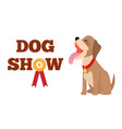 dog show poster colorful vector image vector image