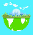 ecosystem environment green nature eco symbol vector image vector image
