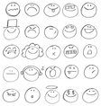 emoticon doodles vector image