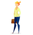 employee female character team service vector image vector image