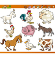 Farm animals set cartoon