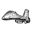 Fighter aircraft in comics style vector image