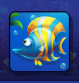 fish world icon striped fish vector image vector image