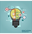 Flat online education vector image vector image