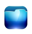 Glossy folder icon design vector image