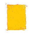 grunge frame - yellow vector image vector image
