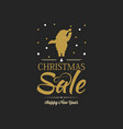 happy new year and christmas sale poster vector image vector image