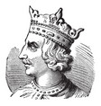 henry i of england vintage vector image vector image