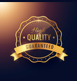 high quality guarantee golden label and badge vector image
