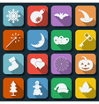 Holidays icons vector image