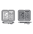 homework line and glyph icon paper and school vector image vector image
