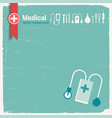 hospital and medicine background vector image vector image