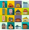 Houses flat icons set vector image vector image