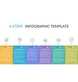infographic template with 6 steps vector image vector image