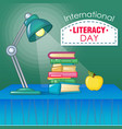 international literacy day concept background vector image vector image