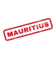 Mauritius Text Rubber Stamp vector image vector image