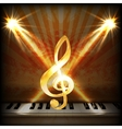 musical background with a treble clef and piano vector image vector image