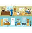 Office Interior Compositions vector image