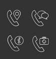 phone services chalk icons set vector image