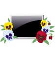 Photo frame in the violets vector | Price: 1 Credit (USD $1)