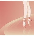pink background with ballerina vector image vector image