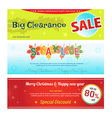 Promotion Set of promotion sale discount web vector image vector image