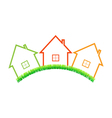 Real estate home on a white background vector image vector image