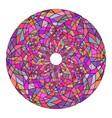 round mandala made of stained glass broken glass vector image vector image