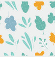 seamless plant floral pattern on white background vector image