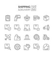 shipping icons vector image