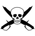 skull and cutlasses vector image vector image
