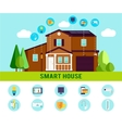 Smart House Flat Infographic vector image