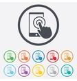 Touch screen smartphone sign icon Hand pointer vector image vector image
