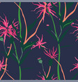 tropical foliage and flowering plants pattern vector image vector image